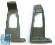1978-88 GM Seat Belt Guides - Gray - Pair