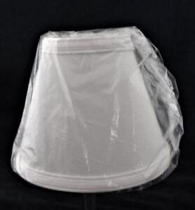 """Clip-On Lamp Shade, White Bell, 3 1/8"""" x 6 1/8"""" x 5 1/8"""" H"""