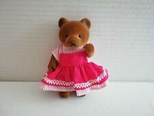 Simba Bärenwald Bär Frau rosa weiß gestreift Kleid rot Schuerze 11 cm