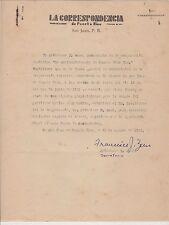 VINTAGE COMMERCIAL LETTER / LA CORRESPONDENCIA / SAN JUAN PUERTO RICO / 1942 #3