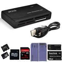 USB Flash Memory All in One 1 SD SDHC Mini Micro M2 MMC Multi Card Reader Writer
