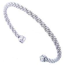 925 Sterling Silver Open Bangle Bracelet Unisex Fashion Jewelry Gift SELLER!