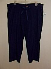 Susie Rose Linen Capri Pants 15 Navy-NEW with tag