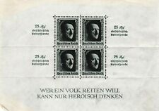 Alemania-Adolf Hitler-MINIPLIEGO con bloque de 4 X 6 Pfennig estampillada sin montar o nunca montada SELLOS 1937