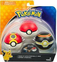 Pokemon Boîte 3 Pokeball Poke Ball Throw Et Catch Couleur Aléatoire Jonglage