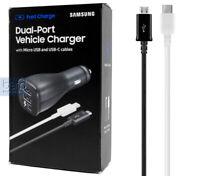 Samsung Adaptive Fast Charging Dual-Port car charger Micro USB & Type C USB