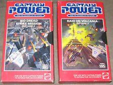Captain Power VHS game lot of 2, Bio Dread Strike Mission skill level:2 &Raid on