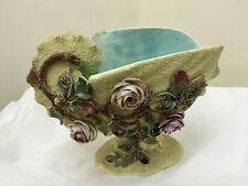 Antique Majolica Pottery  Shell