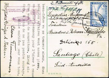 2843 GERMANY TO CHILE ZEPPELIN CARD 1931 FRIEDRICHSHAFEN - Sgo. SPECIAL CANCEL