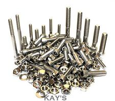 3/16,1/4,5/16 UNC Cap Head Bolts,Nuts & Washers 210 Pieces A2 Stainless Steel