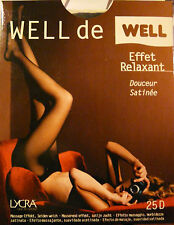 Collant Well  Effet relaxant Lycra 25 deniers Gousset  Noir  taille 1 collector