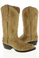mens crocodile alligator hornback new biker cowboy boot western rodeo size 7