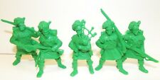 Russian toy soldiers. Tehnolog. Scottish soldiers. Scots. Green. 1/35 or 1/32