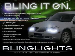 BlingLights LED DRL Head Light Strips Daytime Running Lamps for Chrysler Sebring