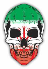 """Skull Flag Iran Car Bumper Sticker 4"""" x 5"""""""
