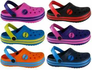 Kids Infants Childrens Surf Mules Clogs Boys Girls Pool Shoes Size 4-6 UK Beach