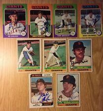 Lot of Classic San Francisco Giants 1970's Autographed Baseball Cards.9 Card Lot