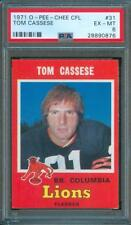 1971 opc O-Pee-Chee Football TOM CASSESE British Columbia Lions #31 PSA 6