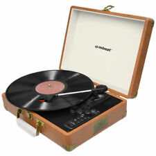 mbeat MB-USBTR128 Vintage Vinyl Turntable with Bluetooth and USB