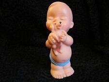 Vintage 1950 Plastic Rubber Toy Kewpie Type Child Dog Painted Japan Display