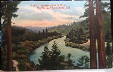 Russian River At Railroad Heights, SANTA ROSA, CALIF. Post Card 1913, SONOMA CO