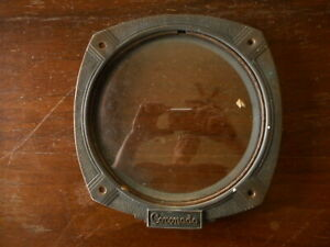Antique Floor Coronado Radio Lens Faceplate Glass Salvaged See pics for size