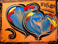 UNIQUE  HEARTS FINE POP ART  by Mark Kazav  Abstract   CANVAS OrigQWEFnal