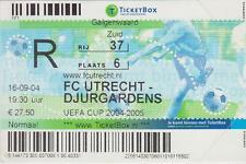 Sammler Used Ticket / Entrada FC Utrecht v Djurgardens IF 16-09-2004 UEFA