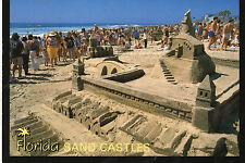 postcard   USA Florida  beaches Sandcastles  unposted