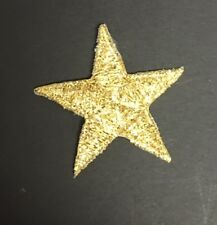 METALLIC GOLD STAR IRON ON APPLIQUES LOT OF 10