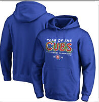 Brand New-Chicago Cubs 2016 World Series Champions Hoodie Sweatshirt Mens Small