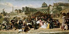 Ramsgate Sands by English Painter William Frith. Repro on Canvas. Choose Size