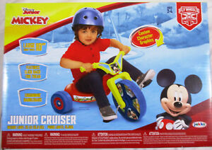 """Disney Junior Mickey Mouse 10"""" Fly Wheels Junior Cruiser Ride-On Ages 2-4 NEW"""