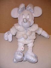 Disney Store 15'' Snowflake Minnie Mouse Plush Stuffed White Sparkle Toy