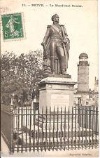 Carte postale, BRIVE, Statue du Maréchal Brune, écrite au revers.
