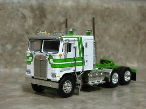 DCP 1/64 Lime Green White Kenworth K-100 Cabover Semi Truck Farm Toy