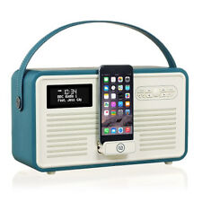 VQ View Quest Retro Radio MKII DAB FM Bluetooth Speaker 5s 6s iPhone Dock Teal