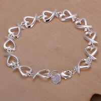 Neu Armband Armkette Silber Herz Kette Silver Schmuck-Geschenk Neu N6D2
