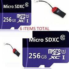LOT OF 2 256GB Micro SD Memory Card SDXC TF Flash Class 10 For Android Camera LG