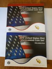 2015 Us Mint Uncirculated Coin Set Philly & Denver 28 coins Mint opened box