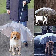Dog Walking Waterproof Built-in Leash Rain Sleet Snow Pet Umbrella Dainty