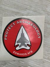 Protect Archaeology Sticker Decal Edwards Air Force Base