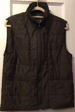 Zara Casual Mens Vest Insert with Hood Brown Size Medium