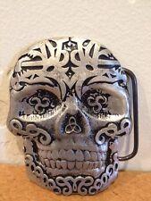 Dia de Muertos/Day of the Dead Calavera Sugar Skull 2002 MOBTOWN Belt Buckle A1
