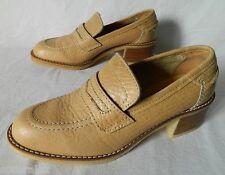 chaussures mocassins escarpins Mademoiselle GEP 1970 70's vintage CUIR shoes 37