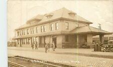 Minnesota, MN, Staples, N. P. Depot, Train Station 1927 Real Photo Postcard