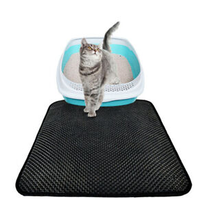 Double Layer Cat litter Mat Pet Rug Waterproof Pad Paw Cleaning Large Honeycomb
