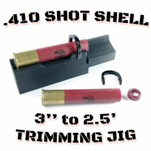 .410 Gauge Shotgun Hull Trimming Jig - 3'' to 2.5'' Removable Safety