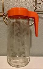 Vintage•Anchor Hocking•Glass •Juice•Pitcher• Flip Lid