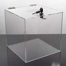 New Retails Locking Acrylic Contest Box 10 in.W x 10 in.D x 10 in. H